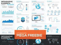 Free infographic vector template 01 featured