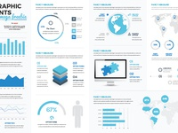 Free infographic vector template white