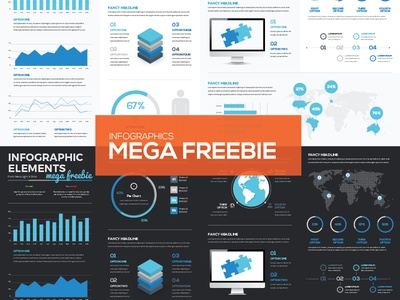 [FREEBIE] Mega Collection of Free Infographic Vector Elements graphic illustrator info presentation template elements infographics infographic download freebie free