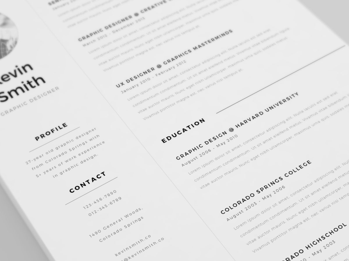 free clean minimal resume template by mats peter forss dribbble