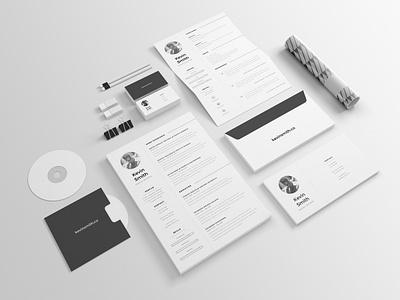 FREE Clean & Minimal Resume Template illustrator template letter cover minimal clean creative inspiration freebie free resume cv