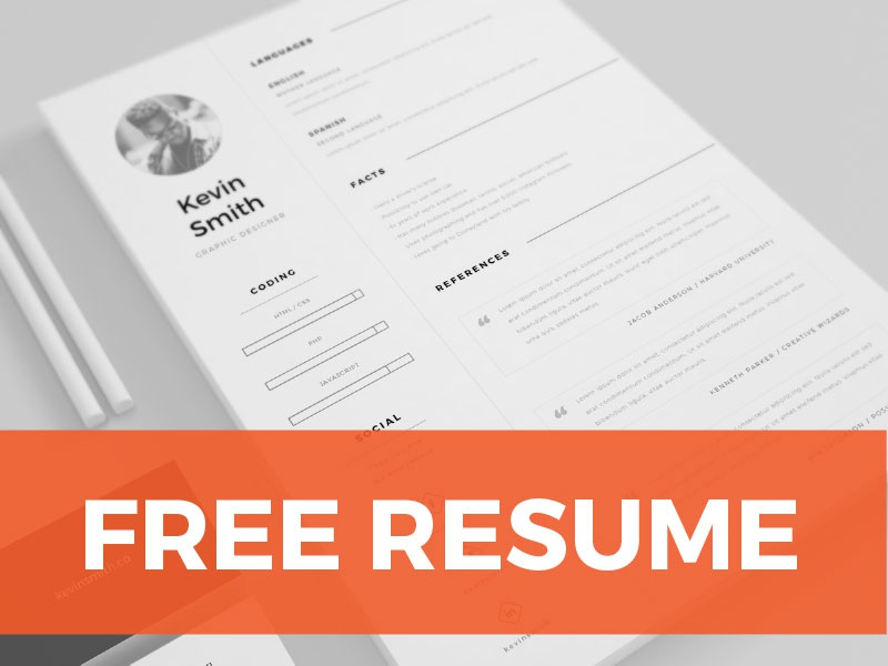 FREE Clean & Minimal Resume Template illustrator template letter cover minimal clean creative inspiration freebie free resume cv
