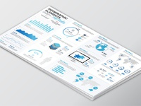 Free infographic vector template white mockup 01