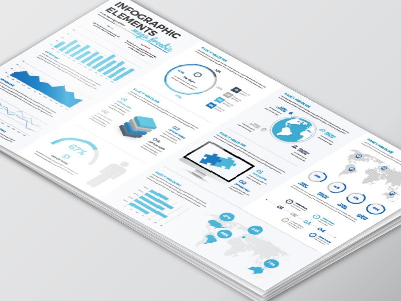 [Freebie] Clean Set of Infographics graphic illustrator info presentation template elements infographics infographic download freebie free