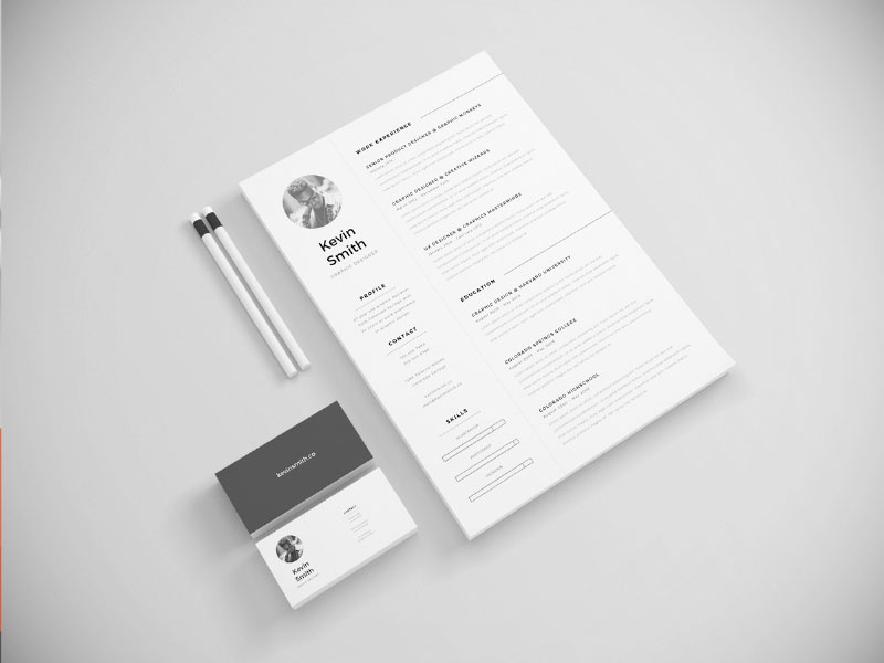 [Freebie] Resume Template illustrator template letter cover minimal clean creative inspiration freebie free resume cv