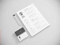 [Freebie] Resume Template illustrator template letter cover minimal clean creative inspiration freebie free resume cv