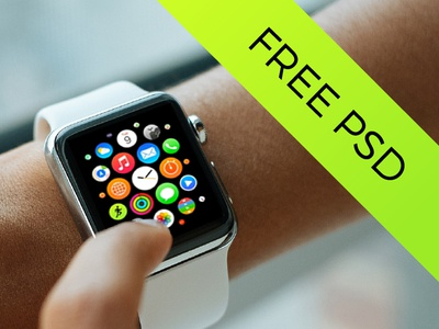 5 Apple Watch Mockups | Freebie photoshop psd mock-up up mock mockup smartwatch smart watch apple freebie free