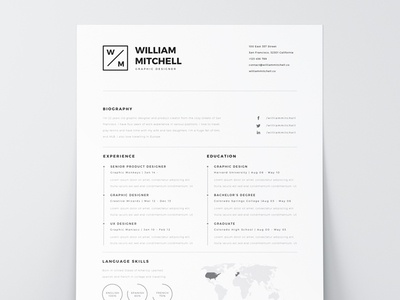 Marvelous Free Resume Template PSD U0026 AI  Clean Resume Templates