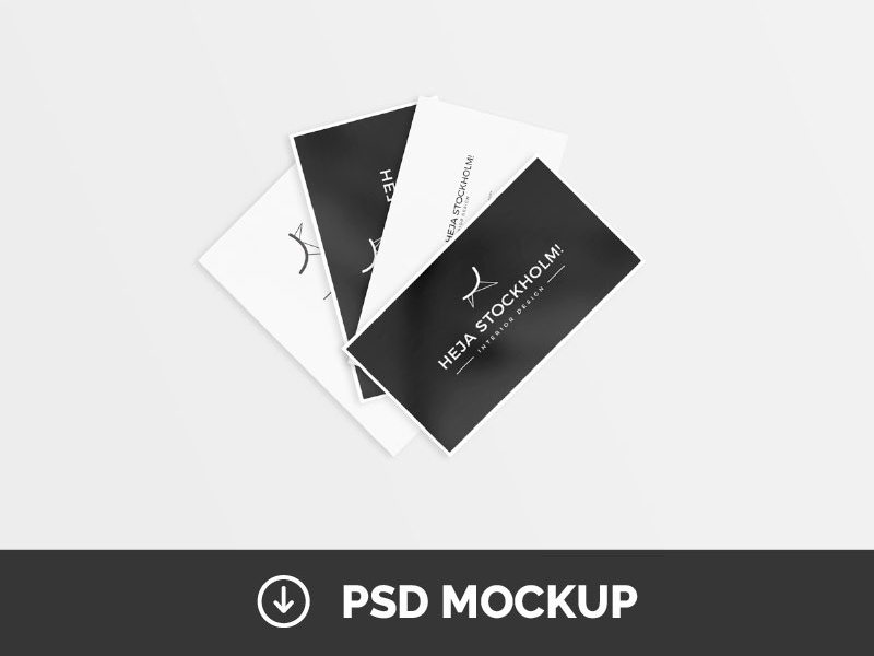 8 free clean business card mockups psd by mats peter forss dribbble reheart Images
