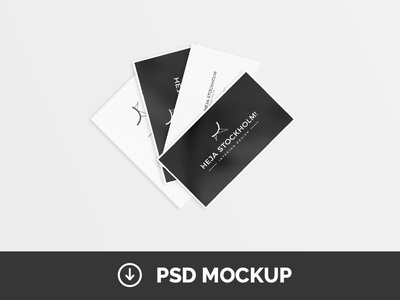 8 free clean business card mockups psd by mats peter forss dribbble 8 free clean business card mockups psd reheart Images