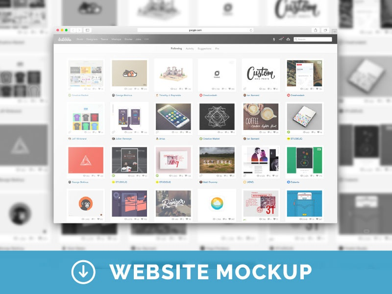 Free Web Browser Psd Mockup By Mats Peter Forss Dribbble Dribbble