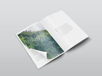 Isometric magazine mockup 2 images