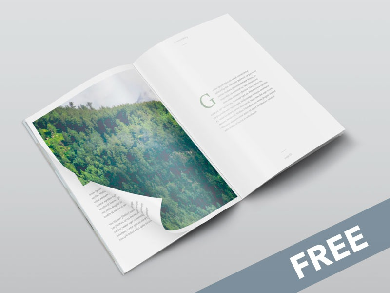 Free Isometric A4 PSD Magazine Mockup cover paper magazine a4 photoshop up mock mockup psd freebie free