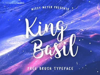Free Brush Font - King Basil brush script inspiration creative writing fonts logo typeface font free free fonts free font