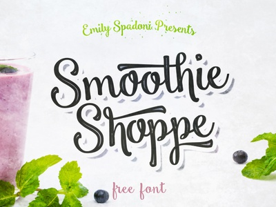 Smoothie Shoppe Free Script Font Preview Dribbble Cover writing typeface script logo inspiration free fonts font creative brush