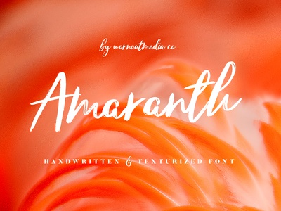 Amaranth - Handwritten and Texturized Font fonts logo original craft hand handwritten handwriting inspiration creative typeface font
