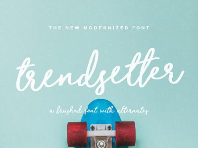 Trendsetter Font fonts logo original craft hand handwritten handwriting inspiration creative typeface font