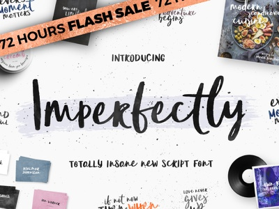 [72 Hours Flash Sale]Imperfectly - New Scipt Font fonts logo original craft hand handwritten handwriting inspiration creative typeface font