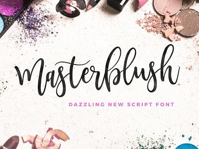 NEW Masterblush Font! fonts logo original craft hand handwritten handwriting inspiration creative typeface font