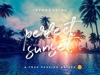 NEW FONT | 25% OFF QUICK-SALE - Perfect Sunset