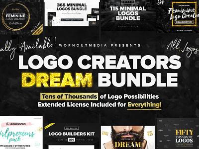 Logo Creators Dream Bundle - Limited Time $120 Off! templates template resume creative inspiration feminine sale bundle logos logo