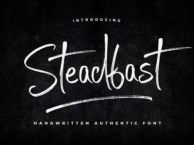 [25% Quick-Sale] Steadfast Script Font fonts logo original craft hand handwritten handwriting inspiration creative typeface font