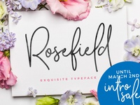 [NEW FONT | -25% Intro Sale] Rosefield Typeface