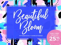 [-25% Intro] Beautiful Bloom Typeface