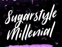 [Free Font] Sugarstyle Millenial Typeface