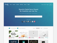 Introducing Pixelify - New Way to Share Digital Design Assets mockups mockup fonts font freebie free download share new pixelify website
