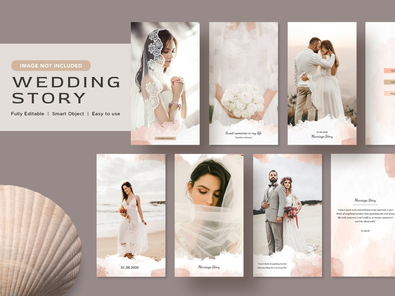 Watercolor Wedding Image Post minimal instagram template instagram post instagram illustration graphic design flat design branding banner ads