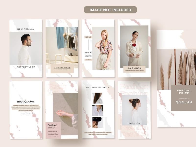 Calm Fashion Template typography minimal instagram post instagram instagram template graphic design flat design branding banner ads