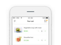Cart - Foodly app