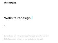Archetype website