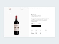 Wine store - product page
