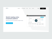 Trading platform - homepage