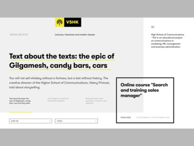 Online learning platform - homepage