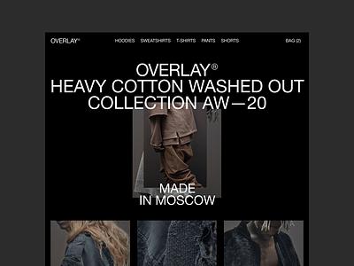 Overlay clean minimal ui ux webdesign clothes fashion branding