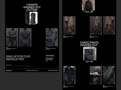 Overlay clothing branding fashion beauty web ux ui minimal clean
