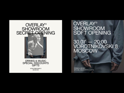 Overlay layout typography ux ui web branding fashion minimal clean