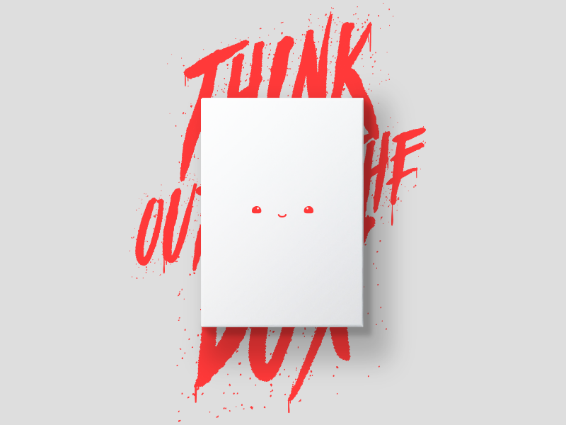 No limits! except the box, of course illustration light white box graffiti typography kawai vector