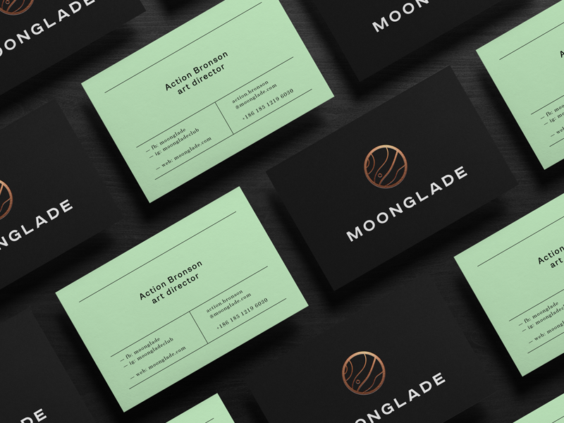 Moonglade / branding classic business cards moon branding