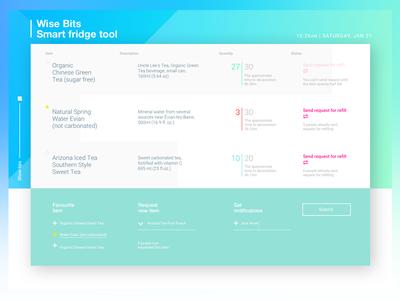 Smart Fridge web interface