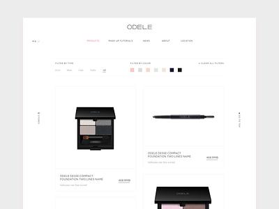 Cosmetic website UI 亚洲 中国 上海 beauty cosmetics grey white asia chinese korean clean minial