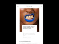 Odele — cosmetic website