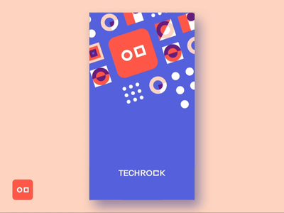 Techrock App - Splash screen app animation ux ui splash shnaghai china app techrock