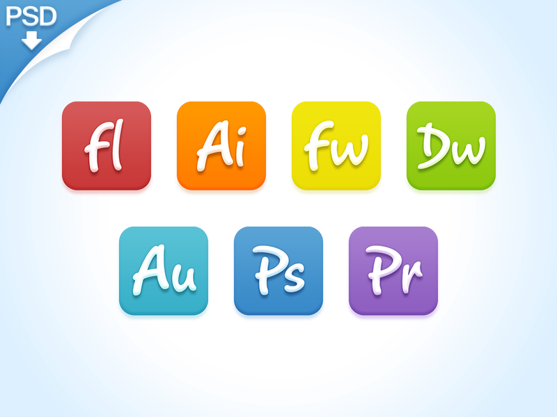 Candy Adobe [PSD] candy adobe icon ps ai colorful