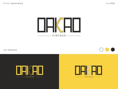 OAKAO - Vintage logotype wordmark flat minimalist minimalism minimal dailylogochallenge logo clean logo