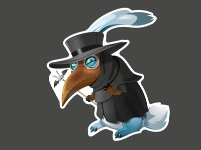 Rabbit NoWay plague doctor чума vector art vector заяцнесудьбы заяц персонаж character illustration mascot plague doctor plague rabbit no way rabbit rabbitnoway