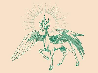 Roe pegasus-2 концепт пегас косуля concept character mascot pegasus goat deer roe
